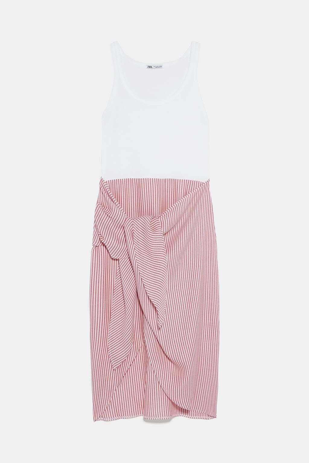 Vestido combinado de Zara