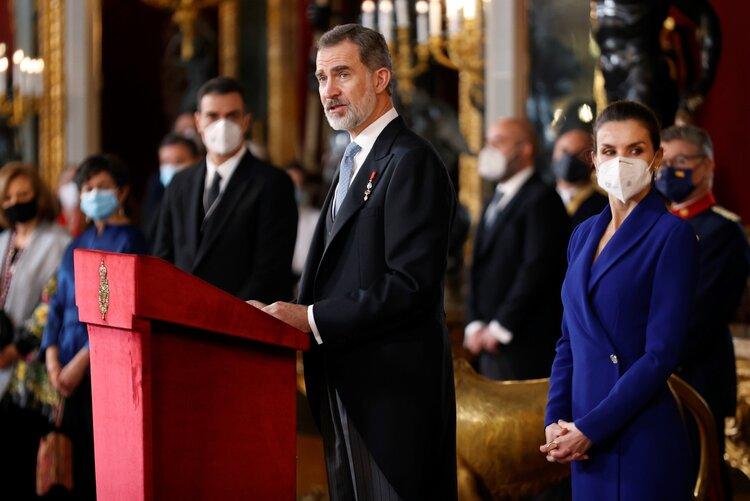 Los Reyes de España asisten a la recepción del Cuerpo Diplomático