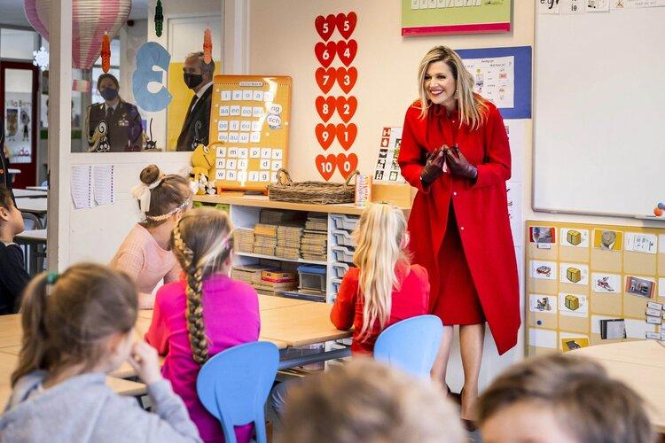 La reina Máxima de Holanda visita la escuela primaria Sabina van Egmond