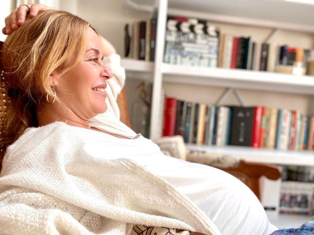 María Adánez, a punto de dar a luz