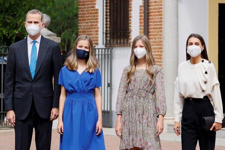La Familia Real asiste a la Confirmación de la Infanta Leonor en Aravaca