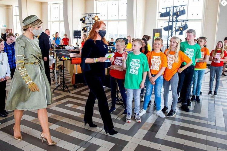 La reina Máxima de Holanda visita Radio Kootwijk