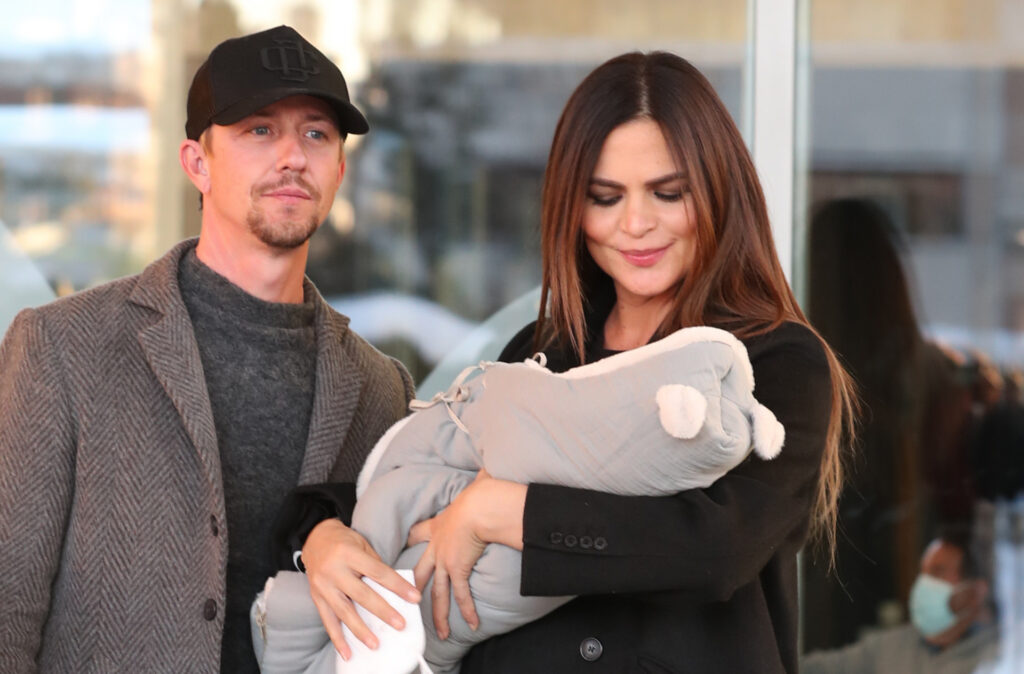 Guti y Romina. Su hijo de 5 meses ha sido operado