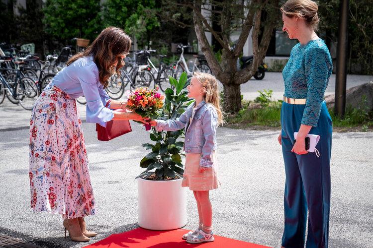 La Princesa Heredera Mary de Dinamarca asiste a la inauguración en el New Herlev Hospital